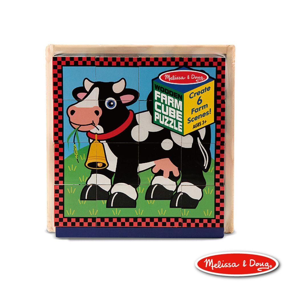 美国玛莉莎 拼图-立体方块,农场动物