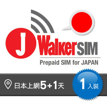 日本上網 5+1天吃到飽 JWalker 卡