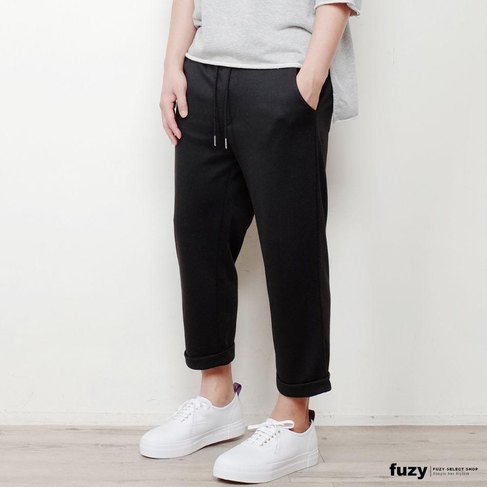 http://s7.sinaimg.cn/mw690/006ZoTFUzy7hXh2qPZQ36&690_【fuzy】抽绳 八分微宽 反摺长裤 - p095