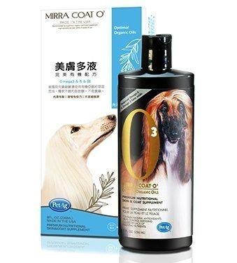 美國貝克 PetAg Mirra-Coat O3 美膚多液 Omega3 強效毛髮/皮膚營養 236ml