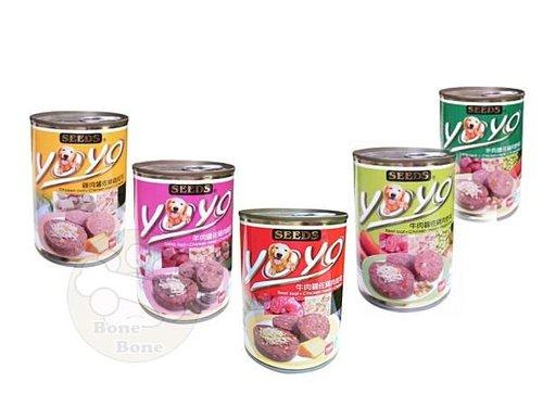 SEEDS聖萊西YOYO愛犬機能大餐罐375g/大狗罐頭/羊肉/雞肉/牛肉