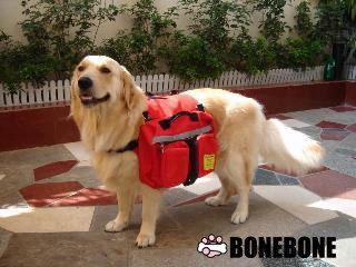 多用途狗狗背包 M(大) 紅色 提袋背袋 外出背包 寵物背包 寵物衣著