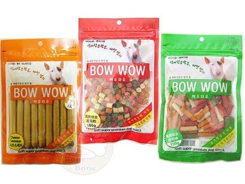 BOWWOW 高鈣綜合起司粒/起司條/起司香腸(9入)狗狗零食/雞肉/鮭魚 起司捲