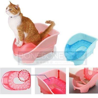 日本Richell利其爾 坐式(站立式)貓用廁所/貓砂盆/貓便盆 2色可選