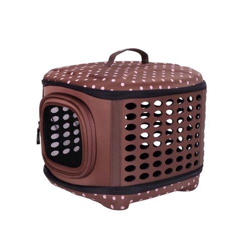 ibiyaya依比呀呀/輕巧摺疊寵物提籠FC1006-BR/寵物提包/寵物外出/犬貓外出籠/外出袋