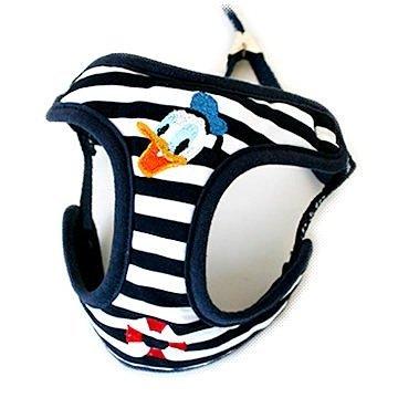 Pet Paradise 日本進口 Disney Donald & Daisy 唐老鴨圖案 BEST胸帶鞍帶牽繩 S