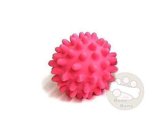 LEO DOG 乳膠玩具-刺蝟球/狗狗玩具/寵物玩具/安全玩具/粉色S號