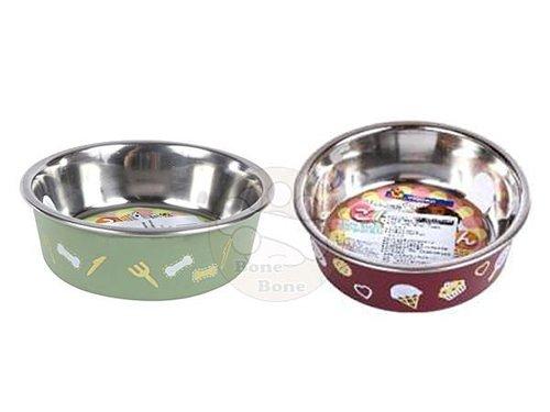日本DOGGYMAN狗用卡通造型防滑不鏽鋼碗寵物碗/餐具/食盆 SS號