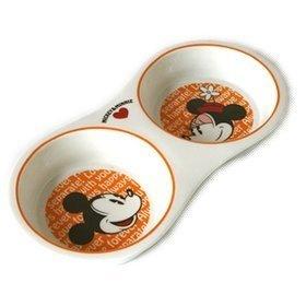 Pet Paradise 日本 Disney Mickey & Minnie 迪士尼米奇米妮寵物用餐具陶器雙碗(貓狗碗)