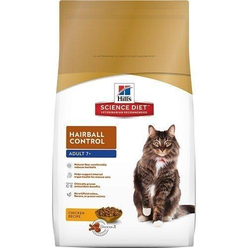 2016新包裝~希爾思Hill's 熟齡貓(7歲以上) 化毛專用配方4KG 附發票正規貨源