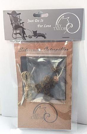 自然鮮貓咪專用(貓裁縫DIY系列 虫嬰果毛毛蟲)/貓玩具/純天然/台灣/貓咪最愛