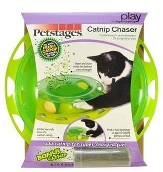 美國 Petstages《貓草香味軌道球》/ 貓咪玩具/遊樂器材/寵物玩具