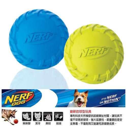 NERF樂活打擊─ 綠色/藍色 犬用越野球型橡膠玩具2.5/犬用玩具/狗玩具/橡膠玩具