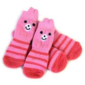 日本PET PARADISE授權正品 narikiri pets 粉紅兔寵物襪 3S 犬貓用保暖襪