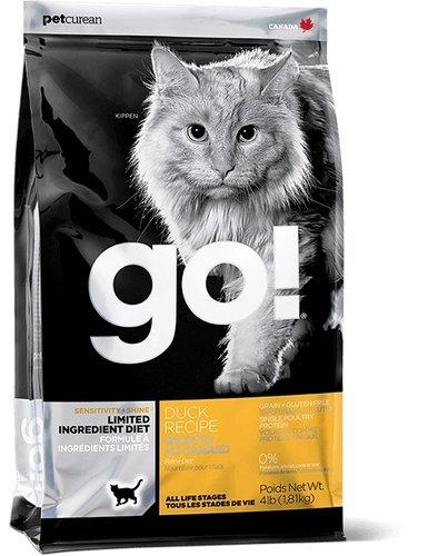 加拿大GO! 低致敏鴨肉無穀 天然貓糧/貓咪飼料16LB