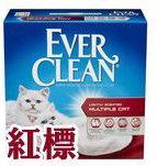 Ever Clean 藍鑽貓砂 紅標 清香味 25磅 低過敏結塊凝結礦砂貓沙/送購物金$60供下次使用(單筆運費限下兩盒)