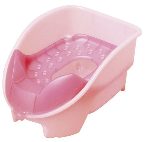 日本Richell利其爾 坐式(站立式)貓用廁所/貓砂盆/貓便盆 粉色下標區