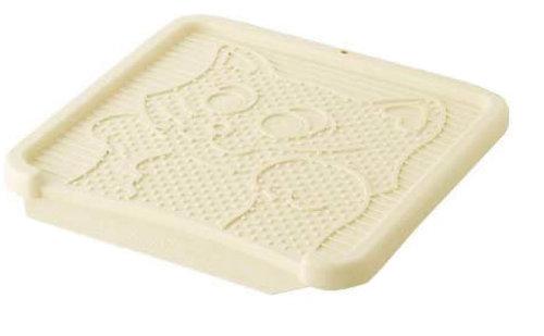 日本Richell利其爾 卡羅貓踏板/貓砂便盆踏墊/落砂板 米色下標區