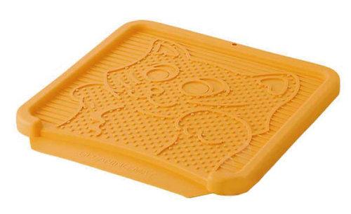 日本Richell利其爾 卡羅貓踏板/貓砂便盆踏墊/落砂板 橘色下標區