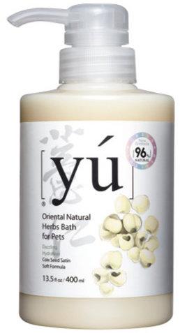 YU 東方森草保養系列寵物沐浴乳 薏仁 400ML 洗毛精