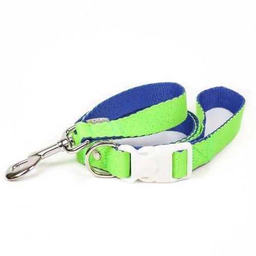 PPark 環保紗-快扣拉繩-台灣鉤粉蝶 亮綠+藍  XS(寬度1cm/120cm)