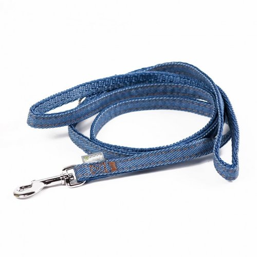 PPark 牛仔布-快扣拉繩  淺藍  L(寬度2.5cm/120cm)
