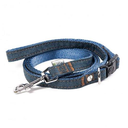 PPark 牛仔布-快扣拉繩 深藍 L(寬度2.5cm/120cm)
