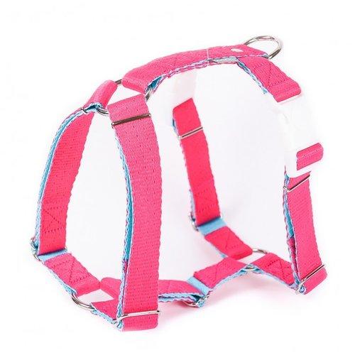 PPark -環保紗-雙扣H型胸背帶/桃紅/五種尺寸
