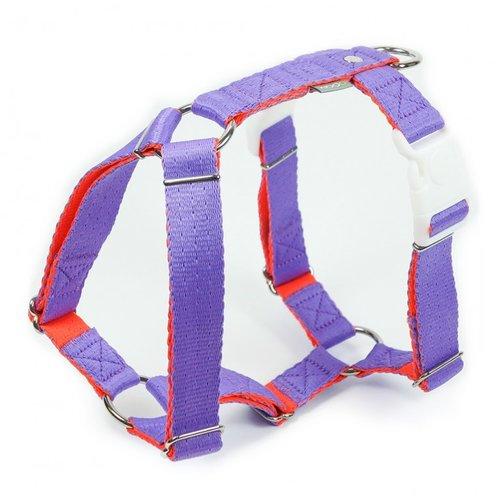 PPark -環保紗-雙扣H型胸背帶/紫色/五種尺寸