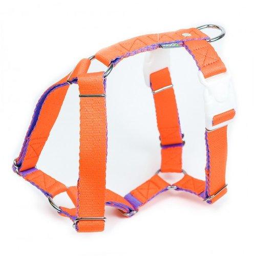 PPark -環保紗-雙扣H型胸背帶/橘色/五種尺寸