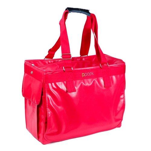 PPark -寵物外出方塊包(可變身拉桿包)-紅