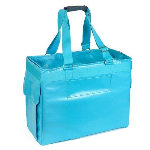 PPark -寵物外出方塊包(可變身拉桿包)-藍