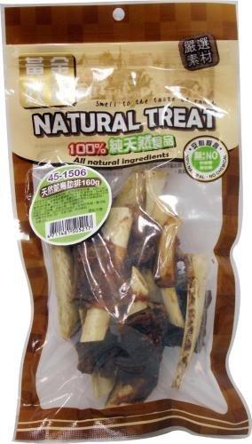 紐西蘭NATURAL TREAT黃金牧場天然寵物零食/狗狗點心/天然鴕鳥肋排160g