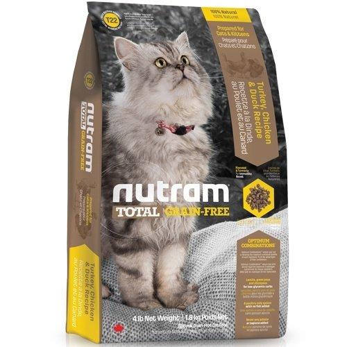 (下殺999元) nutram紐頓-T22無穀全齡貓(火雞+雞肉+鴨肉)1.8kg 貓糧 貓飼料
