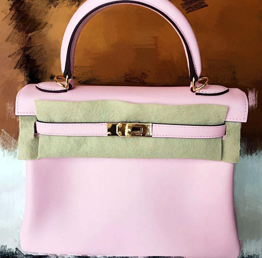 birkin inspired bag - NEW��Hermes Kelly Swift 25CM Rose Sakura 3Q Gold Hardw