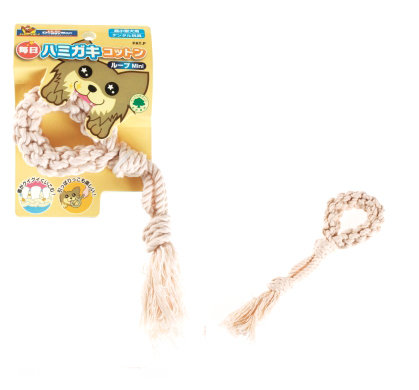 日本DoggyMan【犬用每日潔牙棉繩玩具環形-MINI】超小型犬用 潔牙玩具 潔牙繩