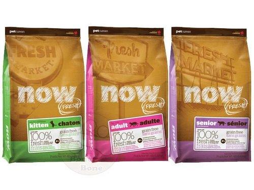 加拿大NOW FRESH™ -8LB鮮肉無穀天然糧 幼母貓配方/成貓配方/老貓&減重配方 貓乾糧飼料/貓乾糧