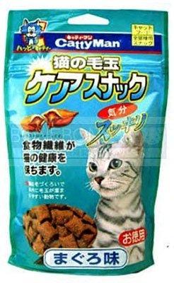 日本Cattyman貓用潔牙化毛餅乾 (鮪魚/)貓咪零食/點心130g