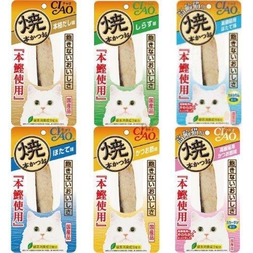 日本 CIAO 本鰹 燒魚柳條/燒烤 鰹魚條/寵物零食/貓咪零嘴//點心魚肉條(共10種口味選擇)