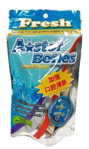 ABones 多效亮白螺旋五星 潔牙骨 -SS(袋裝)ABones 90g (3.2oz) 狗零食 狗點心
