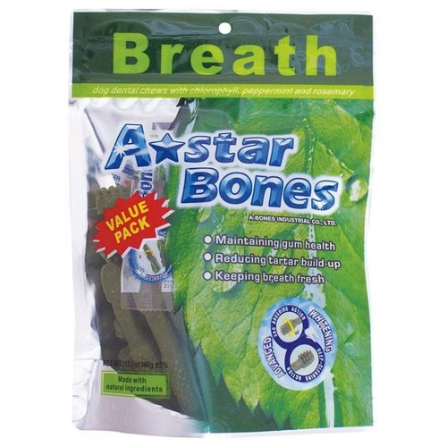 ABones多效雙刷頭潔牙骨360g-SS/S/M/(袋裝)