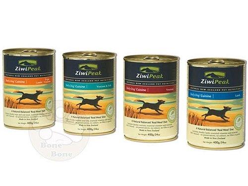 紐西蘭ZiwiPeak 巔峰 95%鮮肉狗餐盒370g/狗罐-羊肉.鹿肉.鹿肉鱈魚.羊鹿肚.牛肉