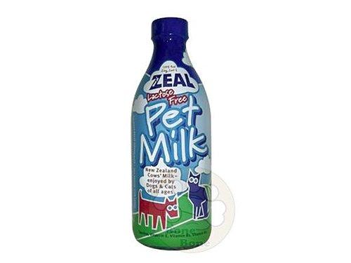紐西蘭ZEAL 天然寵物牛奶/犬貓用鮮乳/狗狗鮮奶/不含乳糖1000ml