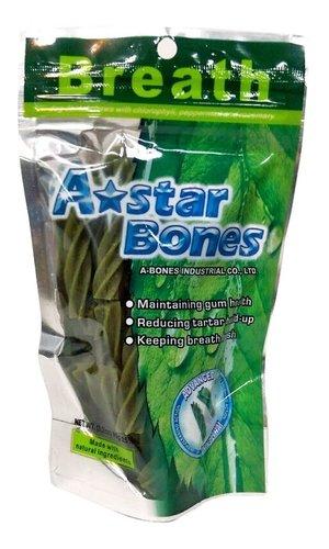 ABones多效雙刷頭潔牙骨-S(袋裝)ABones 90g (3.2oz) 59元 潔牙骨 狗零食 狗點心