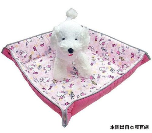 凱蒂貓~Fancy Pets X Hello Kitty 百變造型寵物睡墊 貓 狗 睡床 M (KITTY-粉)