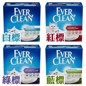 Ever Clean 藍鑽貓砂(白標除臭粗砂/綠標清香/藍標無香)25磅 低過敏結塊凝結礦砂貓沙/送購物金$60供下次使用(單筆運費限下兩盒)