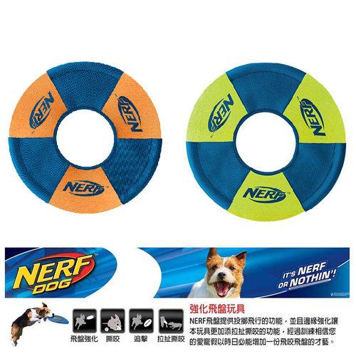 NERF樂活打擊─ 綠色/橘色 犬用極限軌跡飛盤玩具9/犬用玩具/狗玩具/橡膠玩具
