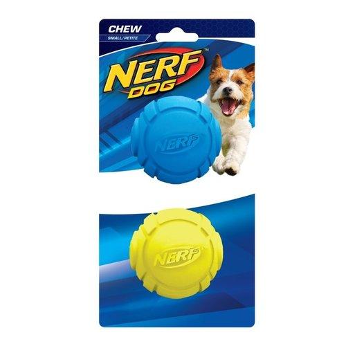 "NERF樂活打擊─ 犬用天然橡膠曲線球型玩具2.5"" 2入/犬用玩具/狗玩具/橡膠玩具"