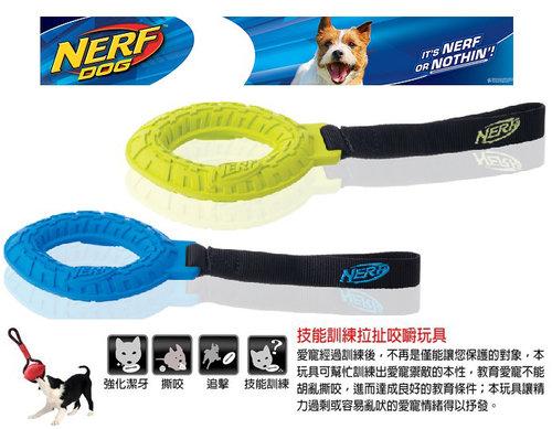 NERF樂活打擊─ 綠色 犬用越野單環帶狀互動玩具11/犬用玩具/狗玩具/橡膠玩具
