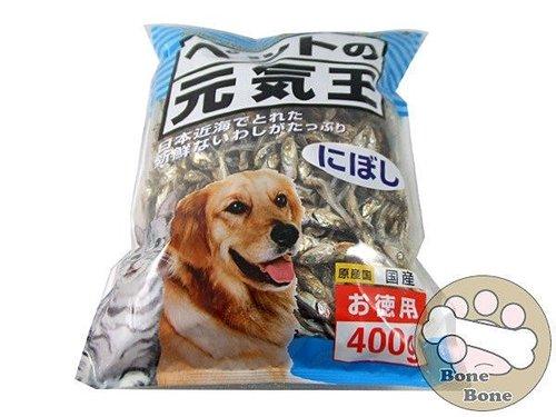 元氣王日本犬貓專用小魚乾400g(狗狗零食/貓咪零食)-沙丁魚